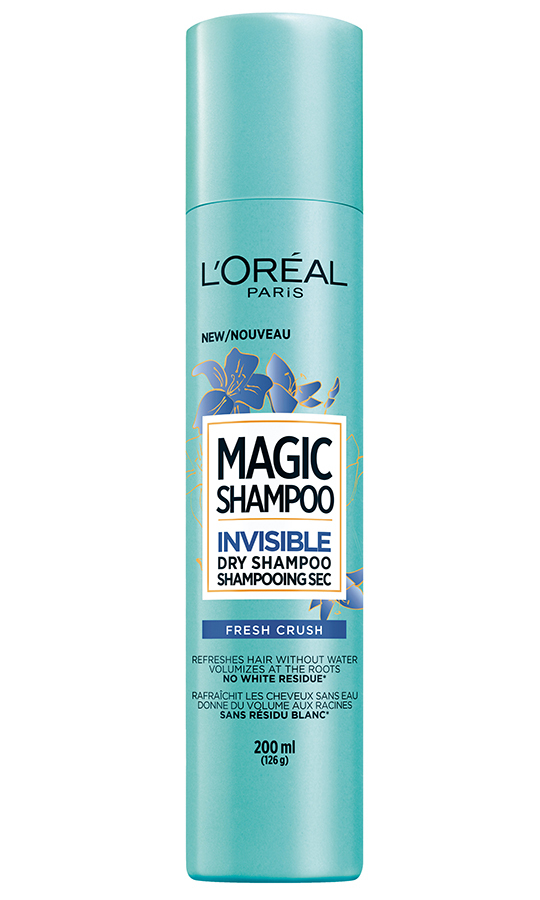 <h2>L'Oréal Paris Magic Shampoo Invisible Dry Shampoo Fresh Crush, $14.99</h2>