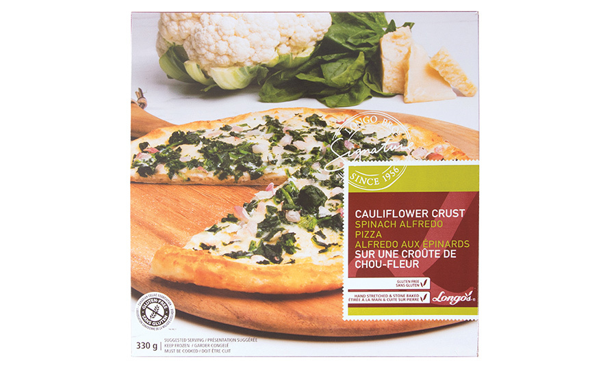 <h2>Longo's Signature Cauliflower Crust Spinach Alfredo Pizza, $6.99</h2>