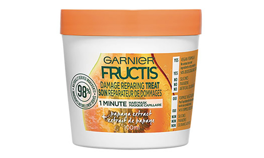 <h2>Garnier Fructis 1-Minute Hair Treats – Papaya Extract Damada Repairing Treat, $5.50</h2>