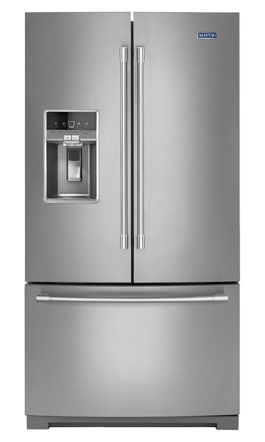 <h2>Maytag 36-Inch Wide French Door Refridgerator – 27 Cu. Ft. MFT2772HEZ, $3,599.99</h2>