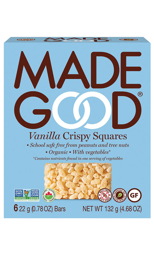 <h2>MadeGood Vanilla Crispy Squares, $4.99</h2>