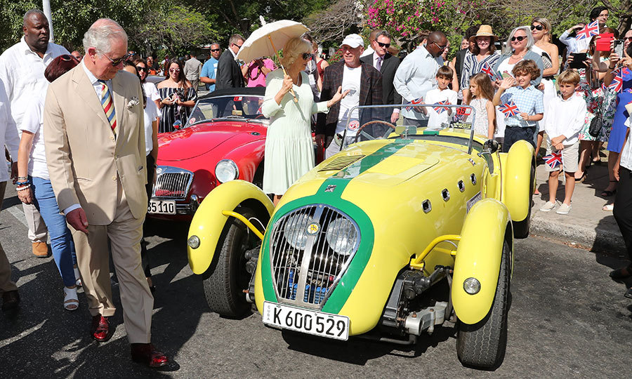 Vroom vroom! The Duke of Cornwall certainly looked interested in taking this very unique car for a spin! 