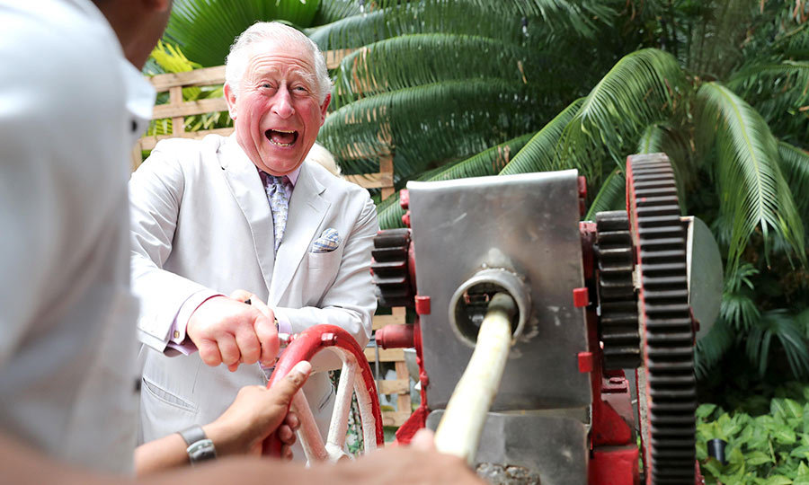 "<strong><a href=""https://ca.hellomagazine.com/tags/0/prince-charles"">Prince Charles</a></strong> began his Wednesday (March 27) by grinding sugar cane at a restaurant called Habanera in Havana. It looks like the prince had a lot of fun!