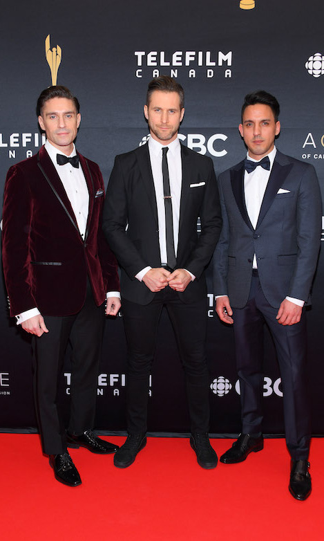 Actors Michael Rowe, Matt Wells and producer Vince Buda