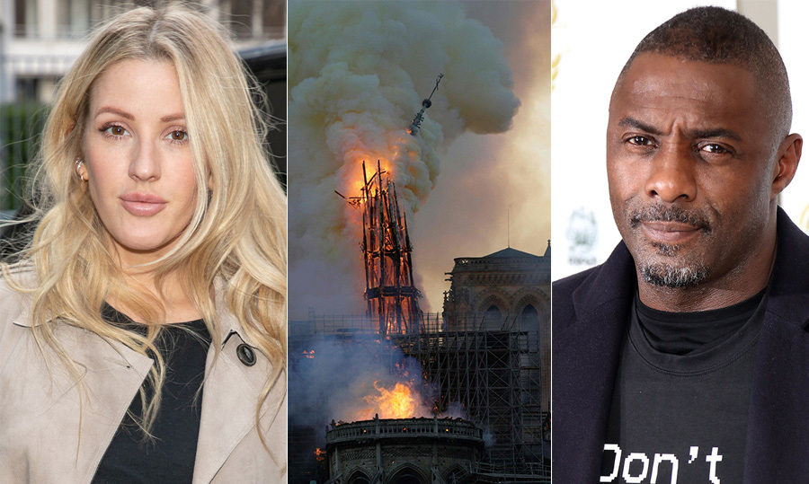 Idris Elba, Ellie Goulding and more stars react to the Notre-Dame Cathedral fire
