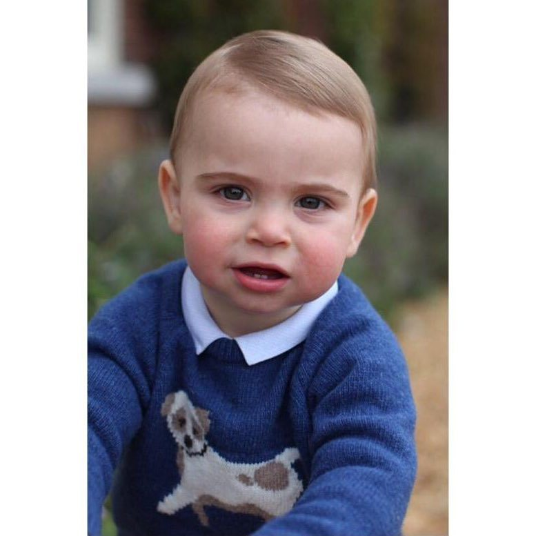 On April 22, the day before his first birthday, Prince William and Kate released three adorable portraits of Prince Louis.
