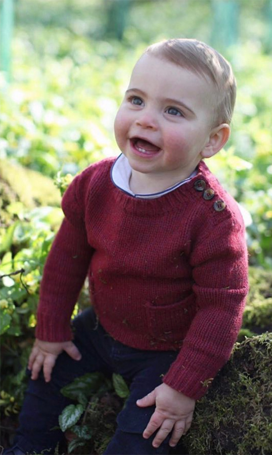 "They captioned the adorable snaps: ""The Duke and Duchess of Cambridge are delighted to share these new photographs of Prince Louis ahead of his first birthday tomorrow.""