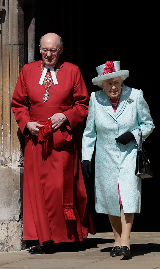 "<a href=""https://ca.hellomagazine.com/tags/0/queen-elizabeth-ii""><strong>The Queen</a></strong> looked perfect in pastel for the Easter Mattins service, stunning in a mint green coat and matching hat, paired with a hot pink dress underneath and her favourite accessories – black gloves, shoes and her go-to purse.