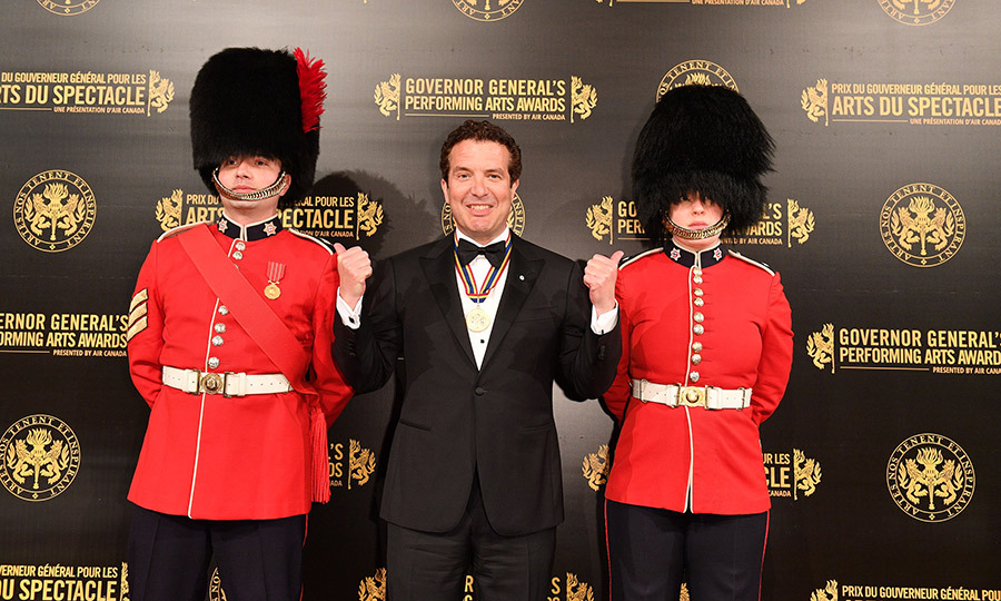 Rick looked pretty thrilled throughout the entire show, and also seemed tickled pink to be posing next to two of the Governor General's Foot Guards – not to be confused with the Queen's Grenadier Guards at Buckingham Palace! 