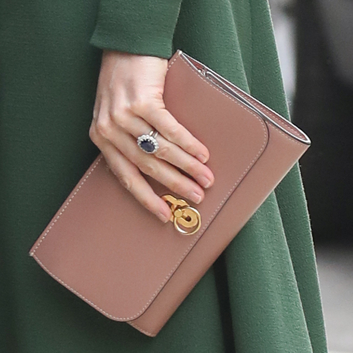 This Mulberry clutch is surely one of her favourites in her collection, and features chic gold hardware.