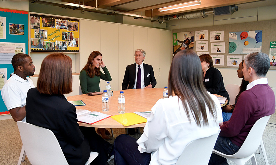 "<a href=""https://ca.hellomagazine.com/tags/0/prince-william""><strong>Prince William</a></strong>'s wife took her spot at a round table to speak with beneficiaries of the Anna Freud Centre. We're sure she shared some of her wisdom and hopes for the centre.