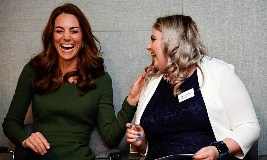Kate showed off her winning personality as she shared a hearty laugh with Amy.