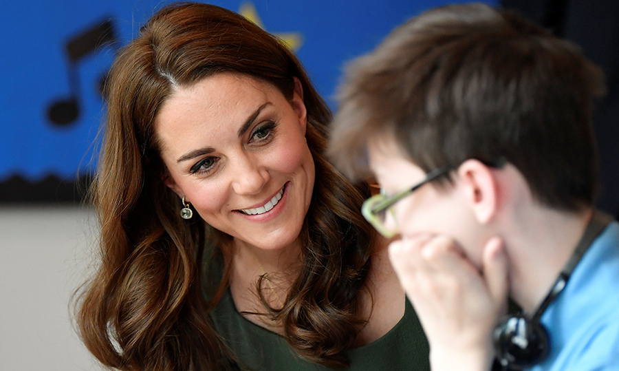 Kate's big heart was on display as she chatted with another student of the centre, of which she's been a patron since 2016. The centre reaches over 1 million children in schools to try and reduce the burden of mental health difficulties children can face.