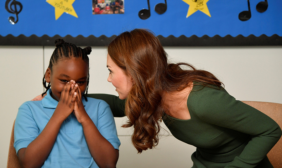 We would be a little shy around the Duchess of Cambridge, too!