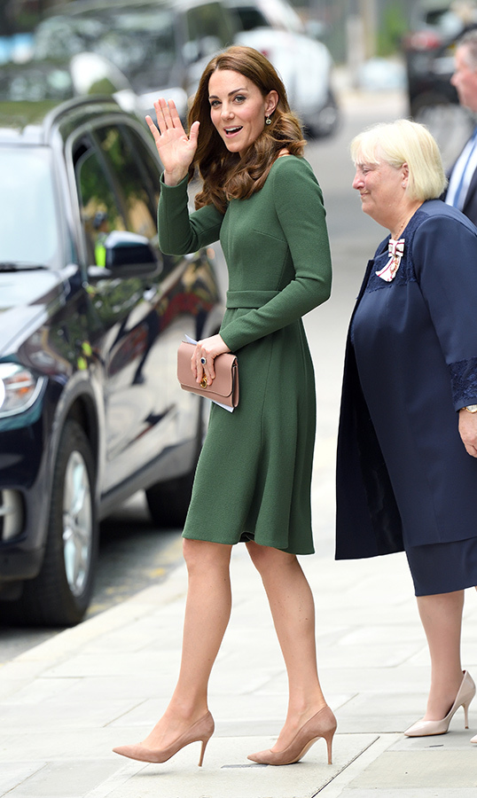 After an hour or so, the Duchess of Cambridge said farewell to her well-wishers and the centre after a successful opening day.