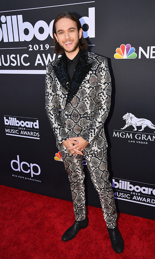 "<a href=""https://ca.hellomagazine.com/tags/0/zedd""><strong>Zedd</a></strong> wasn't rocking a cowboy look like Diplo, but their outfits have a similar vibe... The German DJ chose a snakeskin-patterned suit for his red carpet outfit.