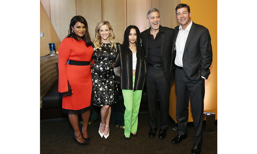 "<a href=""/tags/0/mindy-kaling""><strong>Mindy Kaling</a></strong>, <strong><a href=""/tags/0/reese-witherspoon"">Reese Witherspoon</a></strong>, <a href=""/tags/0/zoe-kravitz""><strong>Zoe Kravitz</a></strong>, <strong><a href-=""/tags/0/george-clooney"">George Clooney</a></strong> and <a href=""/tags/0/kyle-chandler""><strong>Kyle Chandler</a></strong> hit the Big Apple for a Hulu event on May 1.