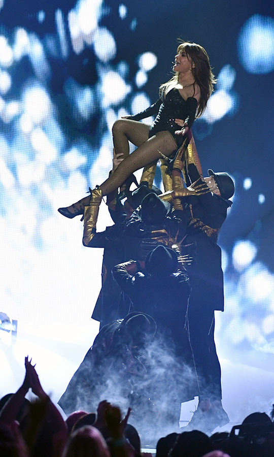 "<a href=""/tags/0/paula-abdul""><strong>Paula Abdul</a></strong> soared through her high-energy performance at the 2019 <i>Billboard</i> Music Awards.
