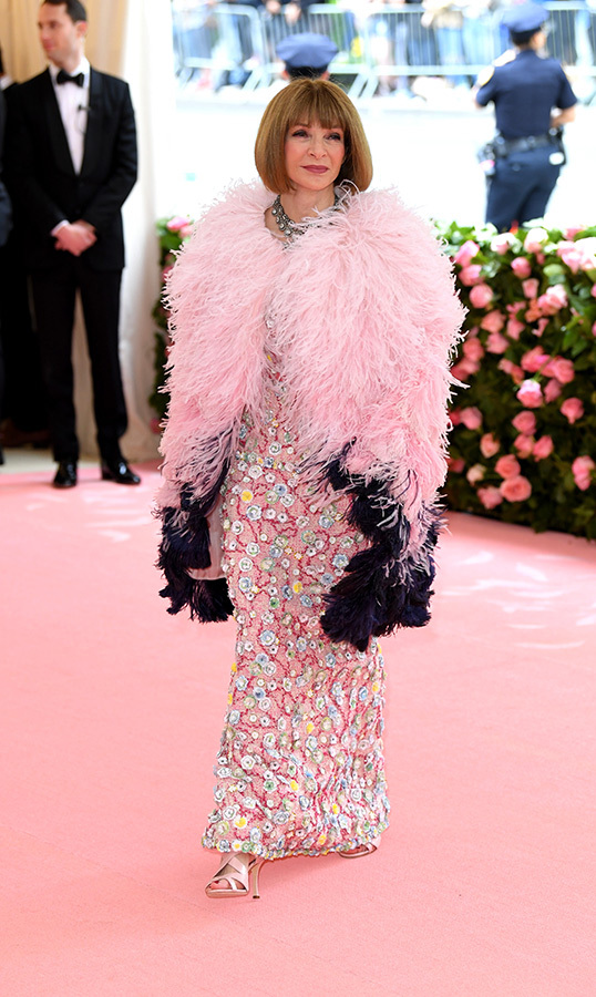 "<a href=""/tags/0/anna-wintour""><strong>Anna Wintour</a></strong> in Armani Prive with a Chanel cape