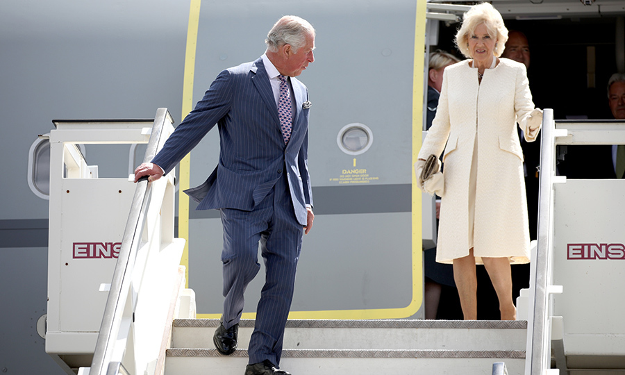 Prince Charles and Camilla touched down at Tegel airport in Berlin on May 7 to kick start their tour. The future King took a moment to look over his shoulder and check on his wife as she exited the plane.