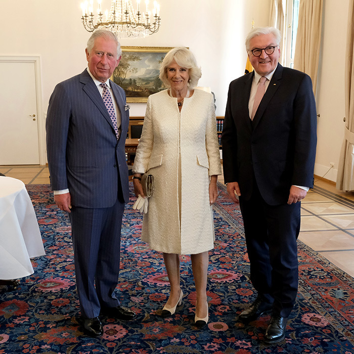 Camilla posed with the duo.
