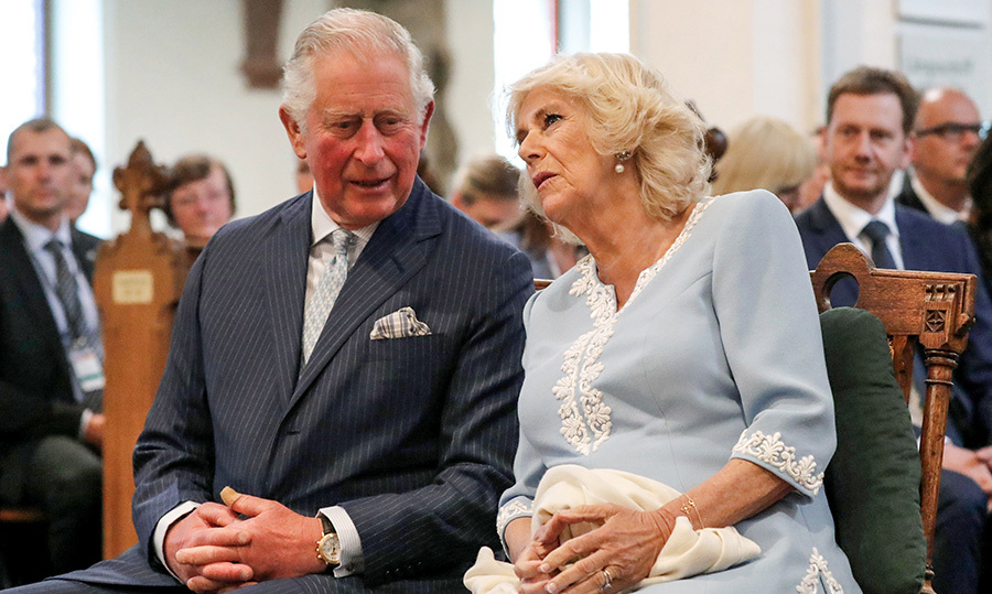 Charles and Camilla headed off to St. Thomas Church and sat in the pews to listen to a boy's choir.