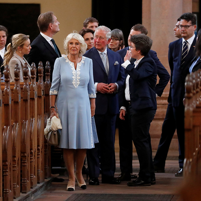 Camilla, Duchess of Cornwall admired the stunning architecture.