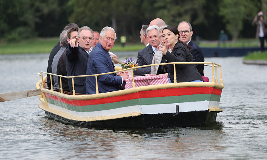The group hopped on a boat to sail along the Garden Dessau-Woerlitz in Woerlitz. The 142-square-kilometre park is a world heritage site and is one of the only English-style parks in Germany, along with the Englischer Garten in Munich. 
