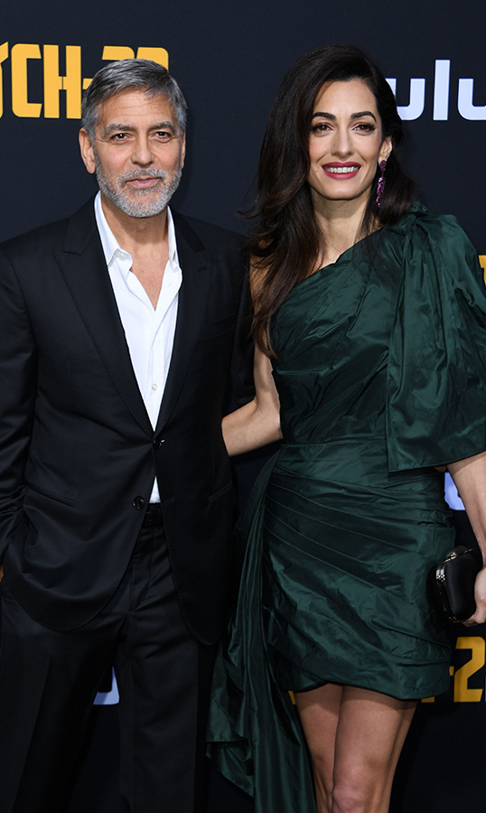 <h2>George and Amal Clooney</h2>