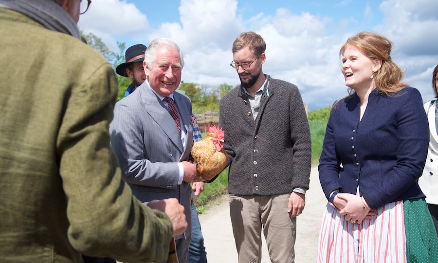 Charles even got to hold a chicken!