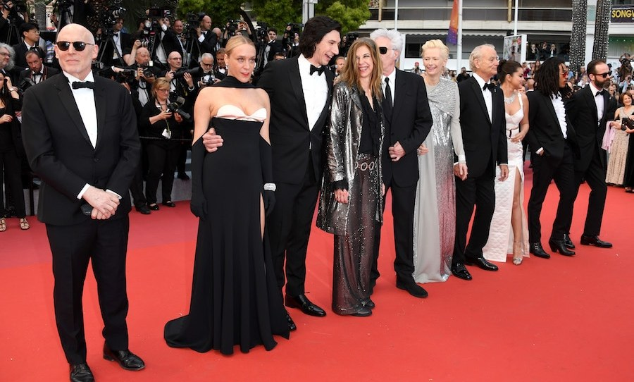 Cast, assemble! Actors Joshua Astrachan, Chloe Sevigny, Adam Driver, Jim Jarmusch, Sara Driver, Bill Murray, Selena Gomez, Luka Sabbat and Carter Logan stood in a glamorous line on the red carpet of <em>The Dead Don't Die</em>.