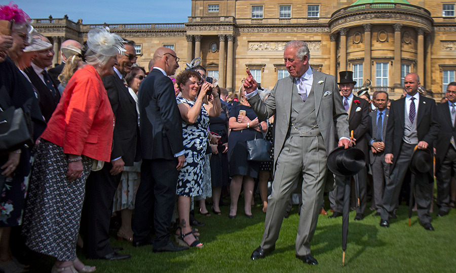 Charles, of course, doesn't go anywhere without his sense of humour! He was clearly making the lucky attendees laugh with some exaggerated gestures.