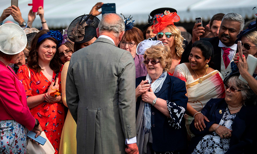 Charles greeted some lucky guests, who looked ecstatic to be meeting one of their favourite royals. 