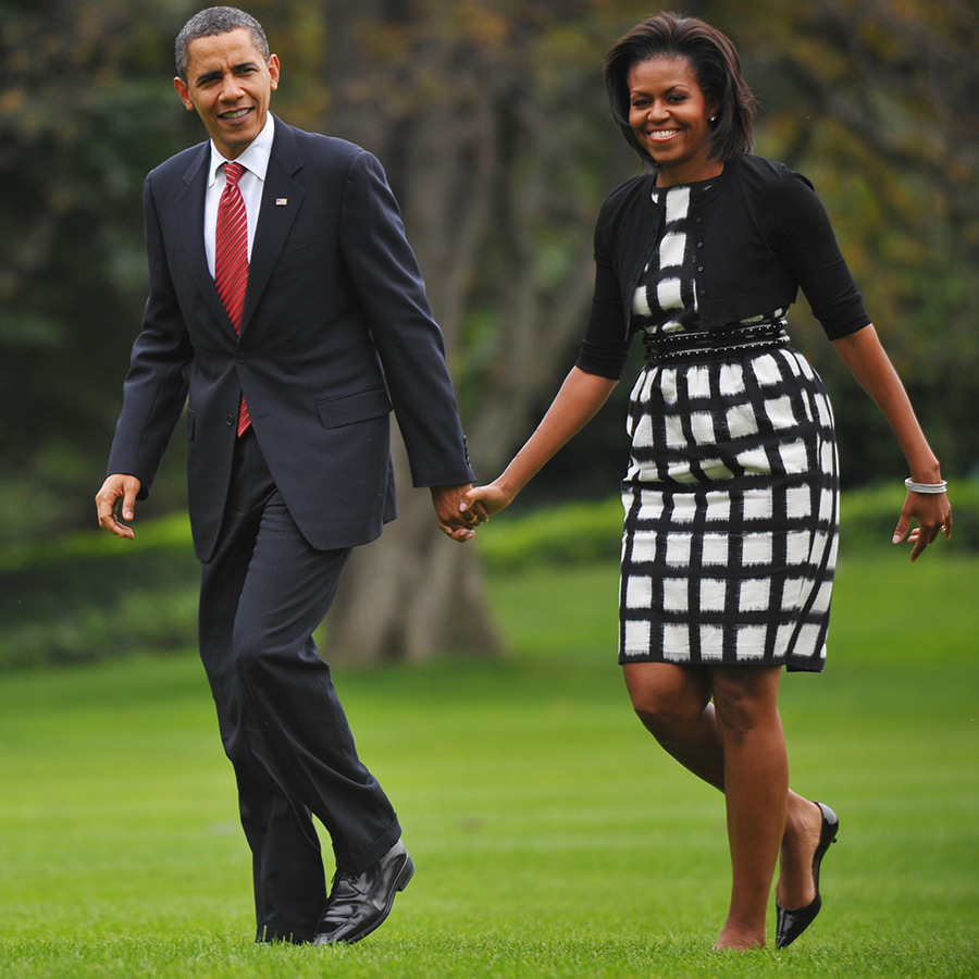 <h2>Barack Obama and Michelle Obama</h2>