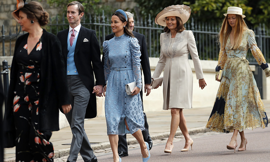 "Pippa and <a href=""/tags/0/kate-middleton""><strong>Duchess Kate</a></strong>'s mother, <a href=""/tags/0/carole-middleton""><strong>Carole Middleton</a></strong> (second right) arrived with a huge smile on her face. 