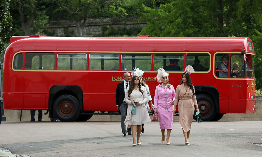 It appeared vintage London buses had been chartered to bring some guests, which is a very classy, old school touch!