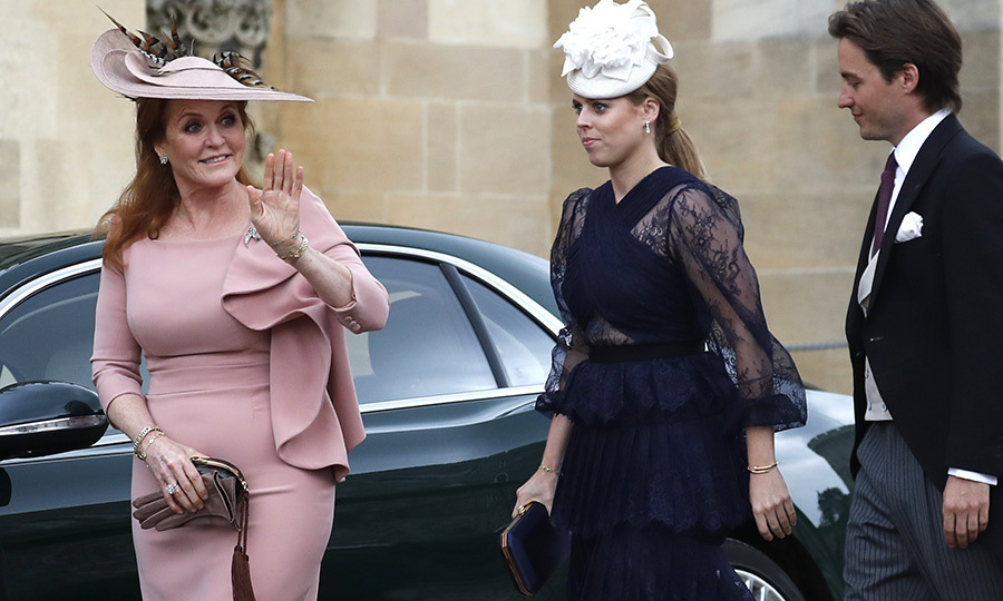 "Sarah waved as she arrived, joined by daughter <a href=""/tags/0/princess-beatrice""><strong>Princess Beatrice</a></strong> and Beatrice's boyfriend <a href=""/tags/0/edoardo-mapelli-mozzi""><strong>Edoardo Mapelli Mozzi</a></strong>
