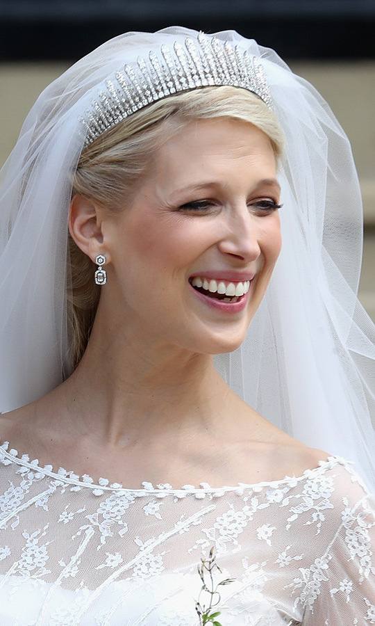 Lady Gabriella was positively beaming after she was married!