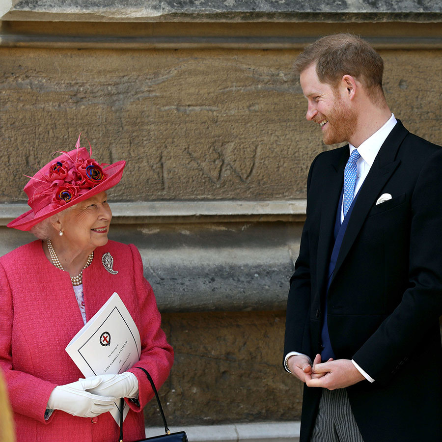 The Queen also seemed very proud of her grandson!