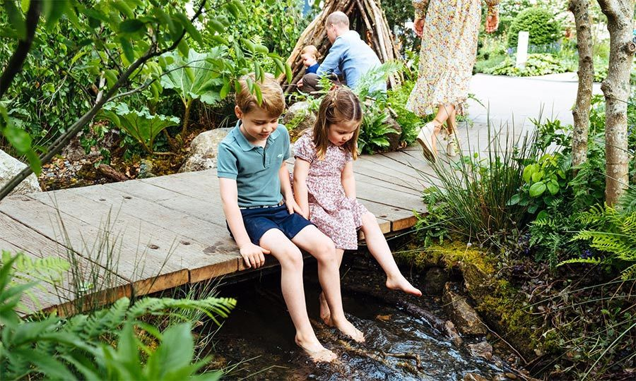 "<a href=""/tags/0/prince-george""><strong>Prince George</a></strong> and <strong><a href=""/tags/0/princess-charlotte"">Princess Charlotte</a></strong> looked like they were really enjoying the stream that has been built into Kate's garden!