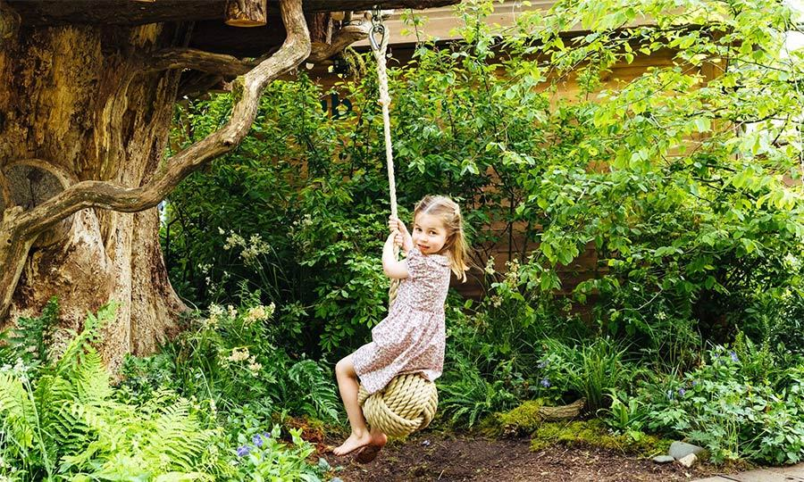 Princess Charlotte was a big fan of the rope swing!