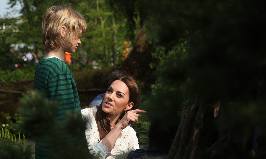 Kate has long been an advocate for children's mental health, and says her garden is intended to promote good wellbeing among kids. 