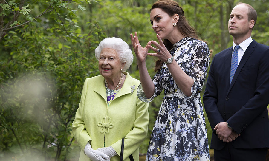 The Queen was very eager to listen to Duchess Kate explain how she and Royal Horticultural Society architects had come up with the design.