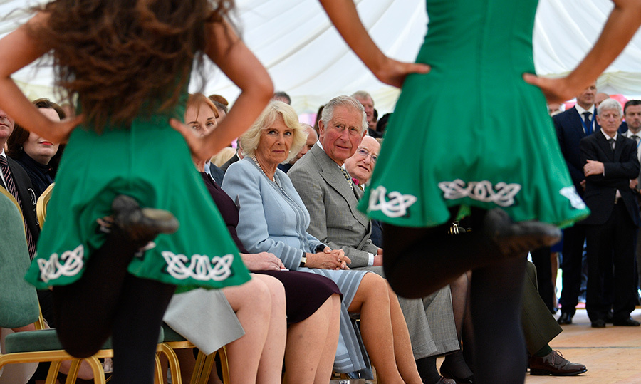 Prince Charles and Camilla took in an Irish dancing performance while at the Glencree Centre for Peace and Reconciliation in Enniskerry, Ireland.