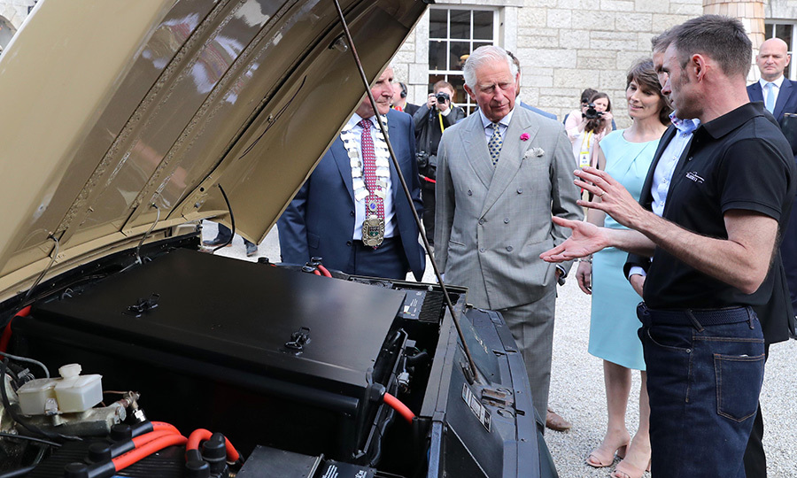 Charles checked out a car at the Cool Planet Experience at the Powerscourt House and Gardens.