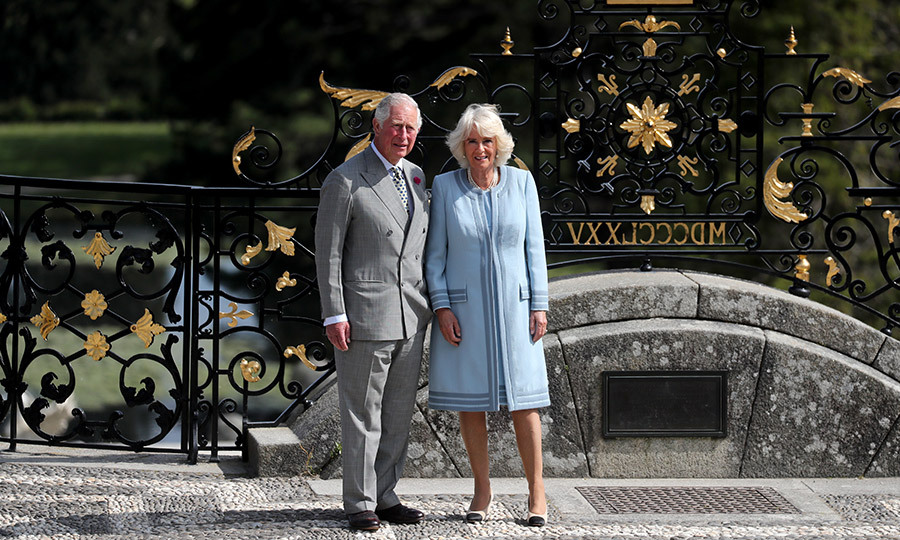 The duo posed outside the gardens in Enniskerry. Camilla, Duchess of Cornwall, looked lovely as ever in a powder blue coat dress.