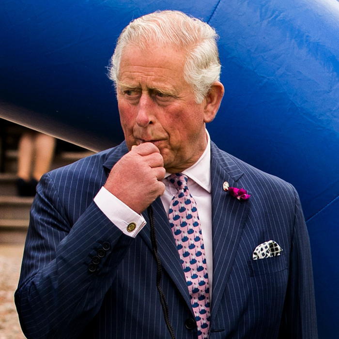 Prince Charles blew a whistle to start a half-and-half game between local Gaelic and Rugby club players while visiting the Armagh council offices at Palace Demense.