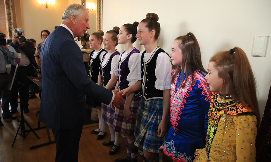 He also met with Irish dancers, who looked very excited to be meeting the future King!