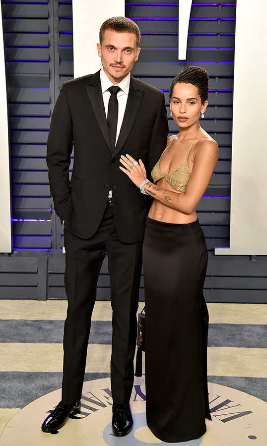 <h2>Zoë Kravitz and Karl Glusman</h2>