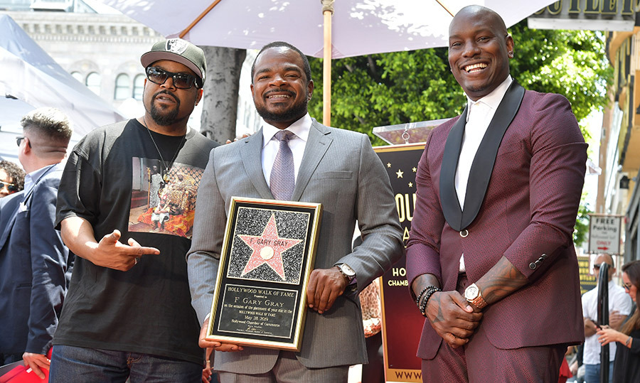 He's a star! Ice Cube and Tyrese Gibson joined director Gary Gray, who was honored with a star on The Hollywood Walk of Fame on May 28.